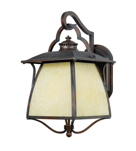 Cottage Outside Wall Lights : Quoizel Lighting Cozy Cottage 1 Light Outdoor Wall Lantern in Burnished Copper CZ8411BDFL