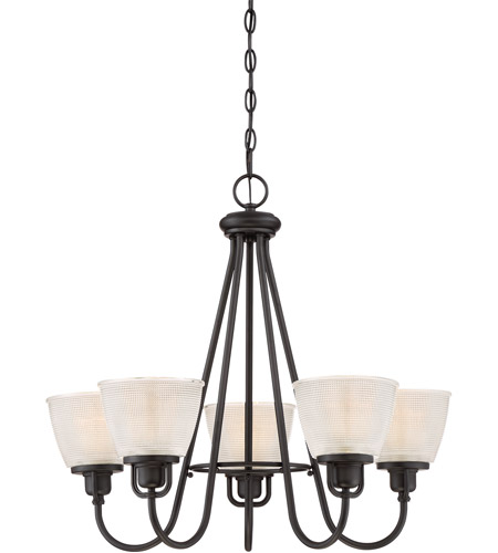 Quoizel DBN5005K Dublin 5 Light 26 inch Mystic Black Chandelier Ceiling Light photo