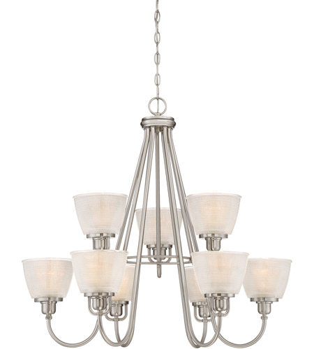 Quoizel DBN5009BN Dublin 9 Light 32 inch Brushed Nickel Chandelier Ceiling Light, Two Tier photo thumbnail