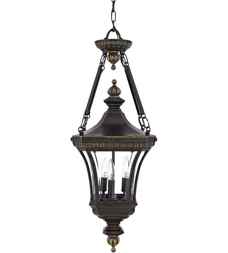 Quoizel Lighting Devon 3 Light Outdoor Hanging Lantern in Imperial Bronze DE1490IB photo