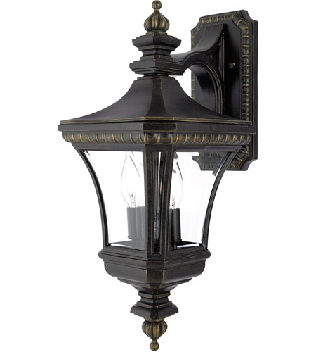 Quoizel Lighting Devon 2 Light Outdoor Wall Lantern in Imperial Bronze DE8976IB photo