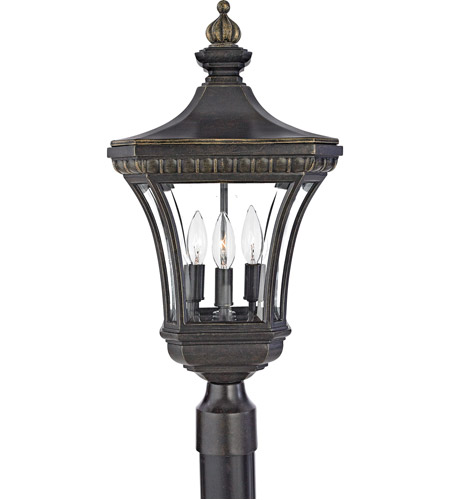 Quoizel Lighting Devon 3 Light Outdoor Post Lantern in Imperial Bronze DE9256IB photo