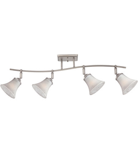 Quoizel DH1404AN Duchess 4 Light 120vAC Antique Nickel Ceiling Track Light Ceiling Light in Grey Marble Glass photo