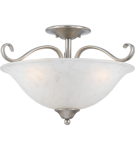 Quoizel Lighting Duchess 3 Light Semi-Flush Mount in Antique Nickel DH1718AN photo