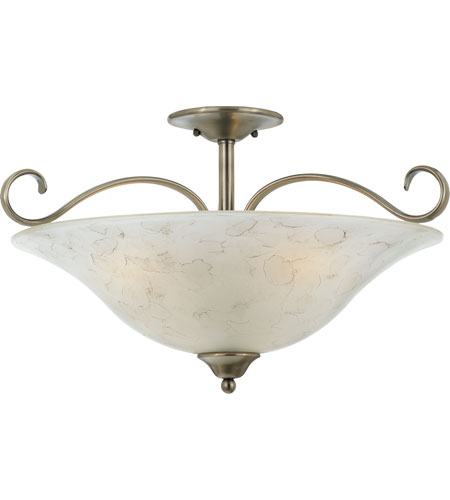Quoizel Lighting Duchess 3 Light Semi-Flush Mount in Antique Nickel DH1722AN photo