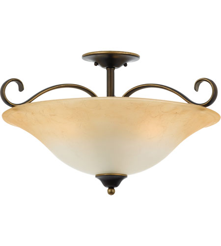 Quoizel Lighting Duchess 3 Light Semi-Flush Mount in Palladian Bronze DH1722PN photo