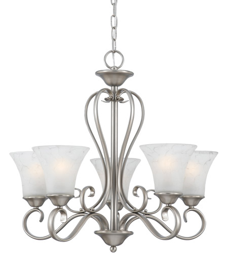 Quoizel DH5005AN Duchess 5 Light 25 inch Antique Nickel Chandelier Ceiling  Light in Grey Marble Glass - Quoizel DH5005AN Duchess 5 Light 25 Inch Antique Nickel Chandelier