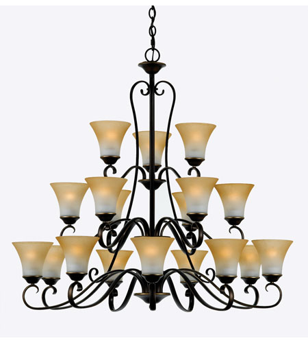 Quoizel Lighting Duchess 18 Light Chandelier in Palladian Bronze DH5018PN photo