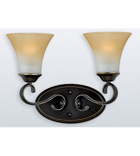 Quoizel dh8602pn duchess 2 light 16 inch palladian bronze - Champagne bronze bathroom vanity light ...