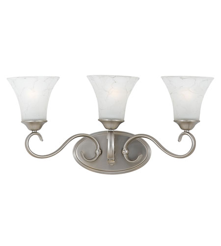 Quoizel DH8603AN Duchess 3 Light 23 inch Antique Nickel Bath Light Wall Light in Grey Marble Glass photo