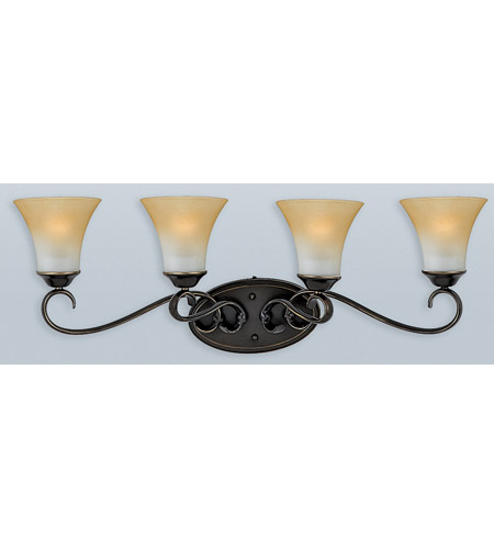 Quoizel DH8604PN Duchess 4 Light 32 inch Palladian Bronze Bath Light Wall Light in Champagne Marble Glass photo