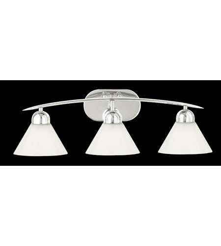 Quoizel DI8503C Demitri 3 Light 26 inch Polished Chrome Bath Light Wall Light in White Seedy Sandstone Glass photo