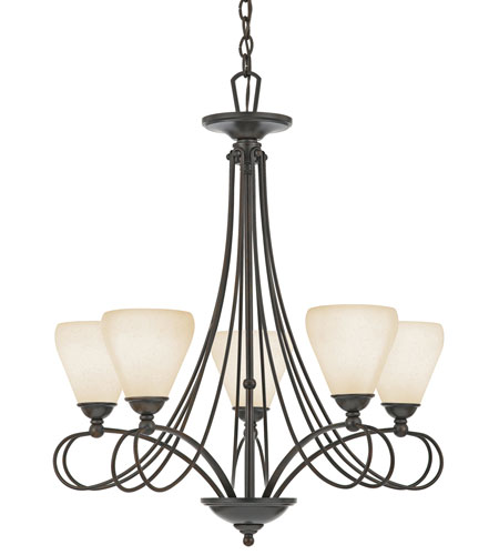 Quoizel Lighting Denmark 5 Light Chandelier in Teco Marrone DK5005TM