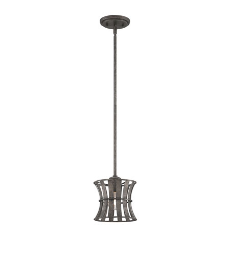 Quoizel Lighting Darian 1 Light Mini Pendant in Fossil Grey DRN1507FG photo
