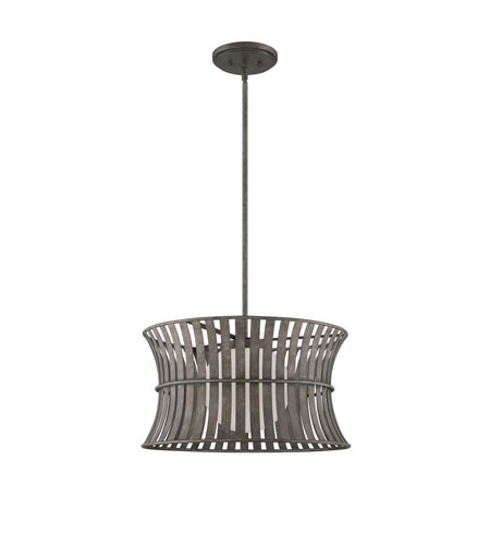 Quoizel Lighting Darian 1 Light Pendant in Fossil Grey DRN2818FG photo