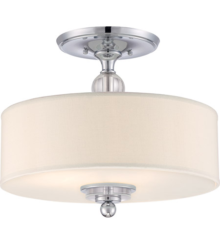 quoizel dw1717c downtown 3 light 17 inch polished chrome semiflush mount ceiling light