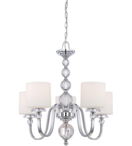 Quoizel Lighting Downtown 5 Light Chandelier in Polished Chrome DW5005C photo