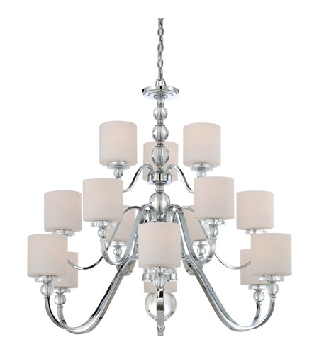 Quoizel DW5015C Downtown 15 Light 44 inch Polished Chrome Chandelier Ceiling Light DW5015C-(2).jpg