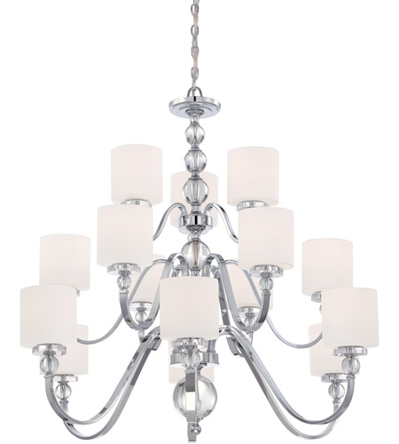Quoizel DW5015C Downtown 15 Light 44 inch Polished Chrome Chandelier Ceiling Light