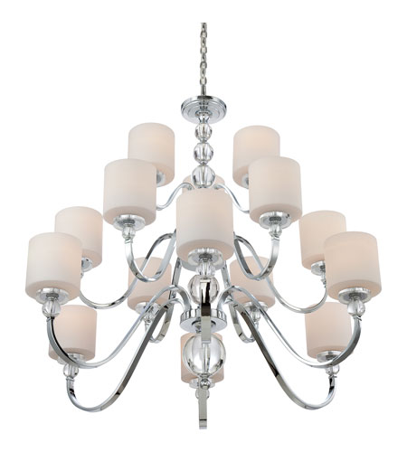 Quoizel DW5015C Downtown 15 Light 44 inch Polished Chrome Chandelier Ceiling Light DW5015C_3.jpg