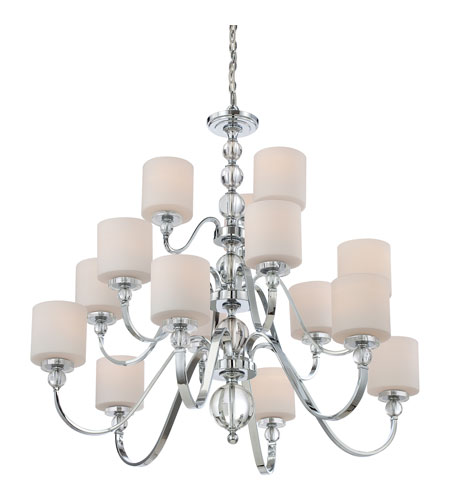 Quoizel DW5015C Downtown 15 Light 44 inch Polished Chrome Chandelier Ceiling Light DW5015C_4.jpg