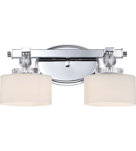 Quoizel Downtown Light Bath Light In Polished Chrome DWC - Chrome 2 light bathroom fixture