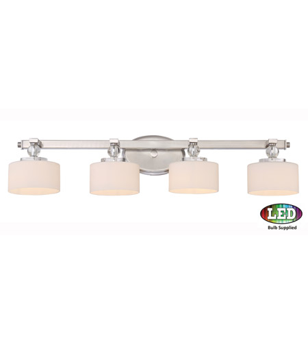 Quoizel DW8604BNLED Downtown LED 34 inch Brushed Nickel Bath Light on lowes bathroom lights, home depot bathroom wall lights, rustic bathroom lights, aluminum bathroom lights, antique bathroom lights, wrought iron bathroom lights, gray bathroom lights, frosted bathroom lights, chrome bathroom lights, hunter bathroom exhaust fans with lights, brushed brass bathroom fixtures, bright brass bathroom lights, gold bathroom lights, black bathroom lights, pfister bathroom lights, bronze bathroom lights, crystal bathroom lights, red bathroom lights, brushed bronze vanity lights, white bathroom lights,