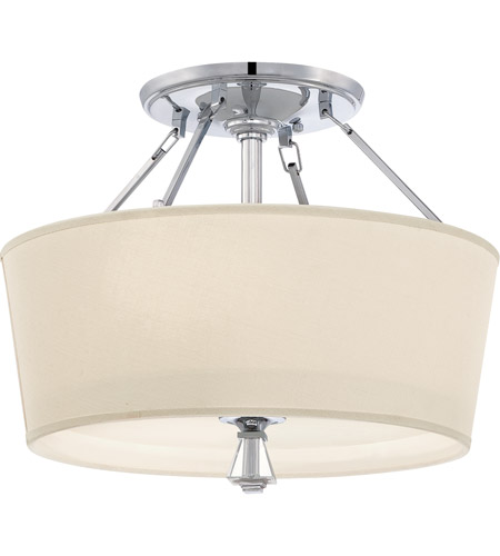 Quoizel DX1718C Deluxe 3 Light 18 inch Polished Chrome Semi-Flush Mount Ceiling Light photo