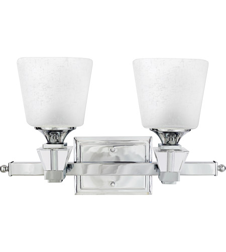 Deluxe 2 Light 18 Inch Polished Chrome Bath Wall