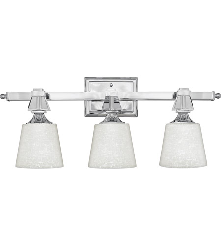 Quoizel dx8603c deluxe 3 light 26 inch polished chrome for Z gallerie bathroom lights