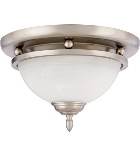 Quoizel Lighting Delray 2 Light Flush Mount in Empire Silver DY1604ES photo