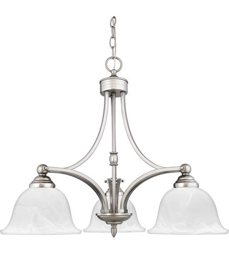 Quoizel Lighting Delray 3 Light Chandelier in Empire Silver DY5103ES photo