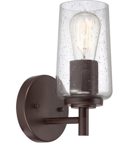 Quoizel eds8601wt edison 1 light 7 inch western bronze for Z gallerie bathroom lights