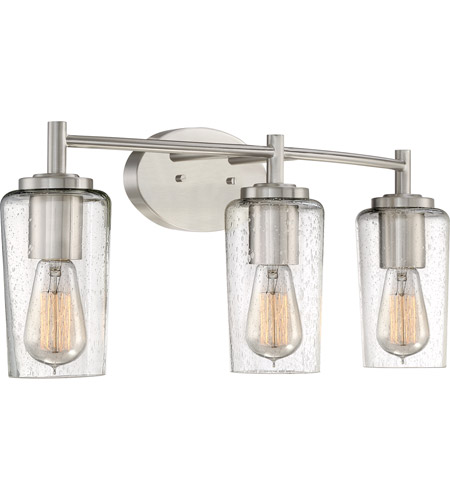 Quoizel eds8603bn edison 3 light 23 inch brushed nickel for Z gallerie bathroom lights