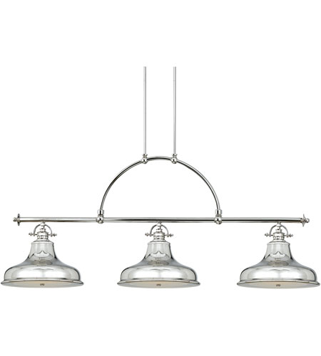 Quoizel Lighting Emery 3 Light Island Light in Imperial Silver ER353IS photo