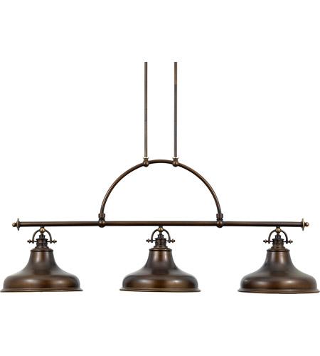 Led Industrial Kitchen Island Light Antique Finish With 3: Quoizel ER353PN Emery 3 Light 53 Inch Palladian Bronze