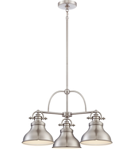 Quoizel Er5103bn Emery 3 Light 24 Inch Brushed Nickel Chandelier Ceiling
