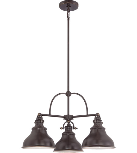 Quoizel ER5103PN Emery 3 Light 24 inch Palladian Bronze Chandelier Ceiling Light  photo