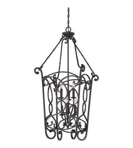 Quoizel Est5206ib Estate 6 Light 20 Inch Imperial Bronze Foyer Chandelier Ceiling In B10 Candelabra Base