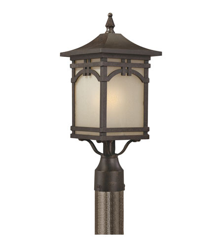 Quoizel Lighting Ethan 1 Light Outdoor Post Lantern in Imperial Bronze ETN9008IB photo