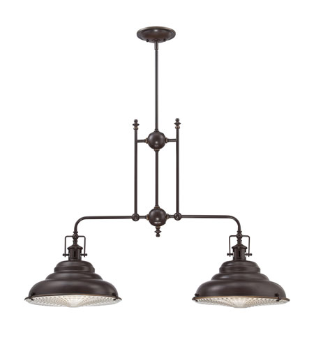 Quoizel EVE240PN Eastvale 2 Light 40 inch Palladian Bronze Island Light Ceiling Light photo