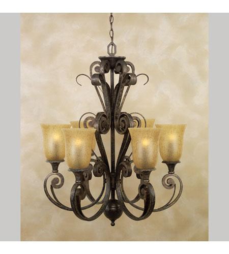 Quoizel Lighting Fairmont 6 Light Chandelier In Malaga Fm5086ml