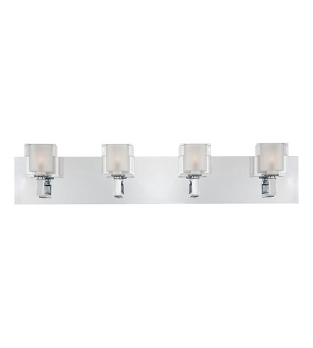 Quoizel Lighting Forme Cubes 4 Light Bath Light in Polished Chrome FMCB8604C photo