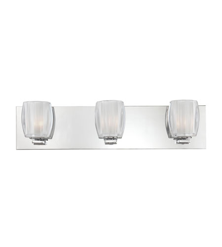 Quoizel Lighting Forme Optics 3 Light Bath Light in Polished Chrome FMOP8603C photo