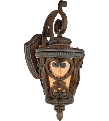 Quoizel Lighting Fort Quinn 1 Light Outdoor Wall Lantern in Antique Brown FQ8308AW01 photo