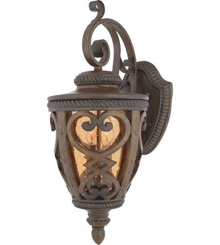 Quoizel Lighting Fort Quinn 2 Light Outdoor Wall Lantern in Antique Brown FQ8310AW01 photo