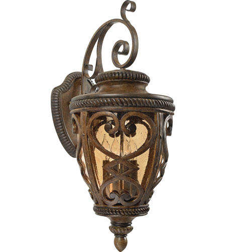Quoizel Lighting Fort Quinn 4 Light Outdoor Wall Lantern in Antique Brown FQ8314AW01 photo