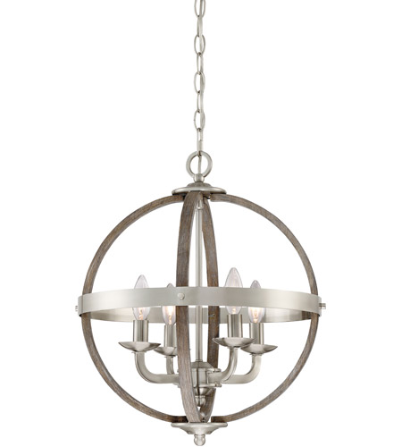 Quoizel FSN5204BN Fusion 4 Light 17 inch Brushed Nickel Foyer Piece Ceiling Light, Naturals photo thumbnail