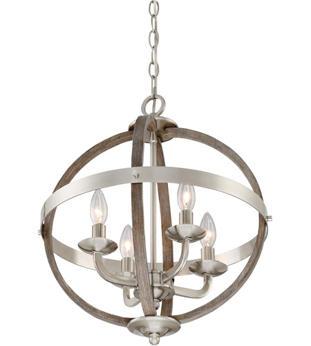 Quoizel FSN5204BN Fusion 4 Light 17 inch Brushed Nickel Foyer Piece Ceiling Light, Naturals alternative photo thumbnail