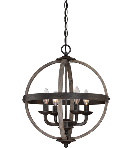 Rustic Foyer Pendant Lighting : Quoizel fsn rk fusion light inch rustic black